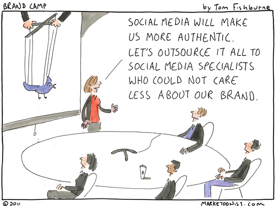 Outsourcing social media by Tom Fishburne