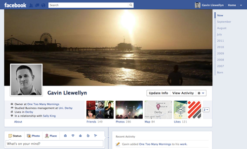 Gavin Llewellyn's new Facebook profile