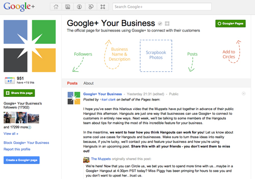 Google+ Pages have arrived!