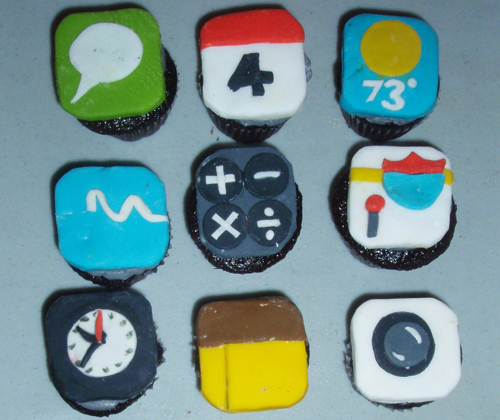 iPhone cupcakes by Rachel Kramer Bussel