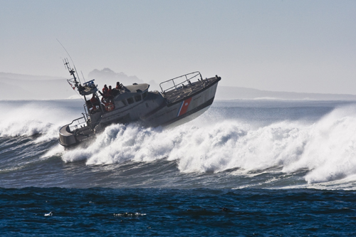 Coast Guard Boat in Morro Bay, CA 04 Dec 2007 by Mike Baird