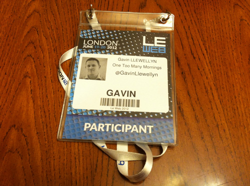 Gavin Llewellyn at LeWeb London 2012