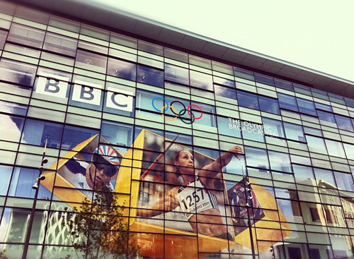 Celebrating the Olympics at the BBC in Manchester