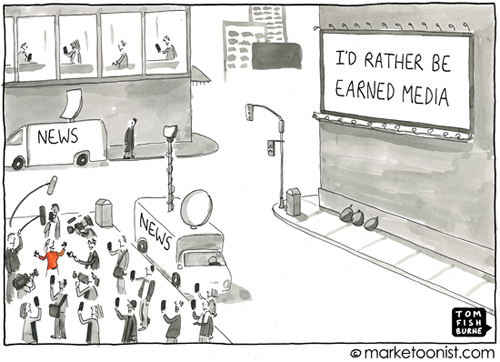 Earned media by Tom Fishburne