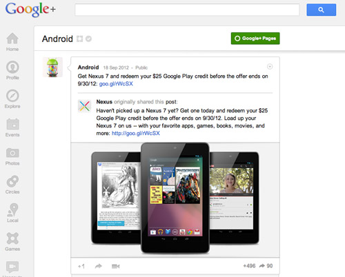 Android on Google+