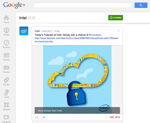 Intel on Google+