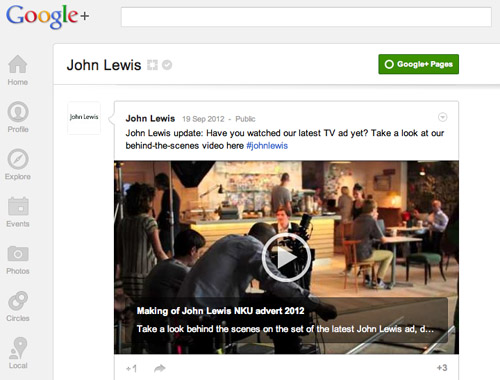 John Lewis G+ on Google+(2)