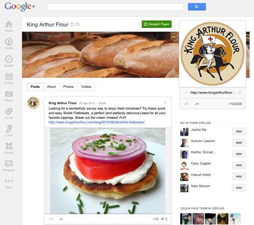 King Arthur Flour on Google+
