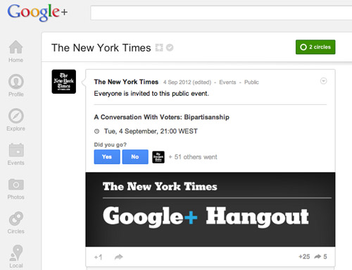 New York Times on Google+