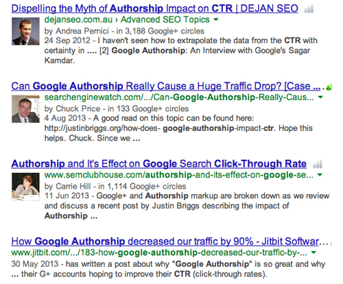 Authorship results